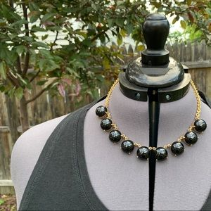 J. Crew Acrylic Pop Necklace! Black